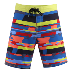 New Board Shorts Men VEE Waist Block 18 Outseam Colorful