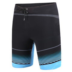 New 18 Heat-Welded Men Board Shorts Black Light Blue For Sale