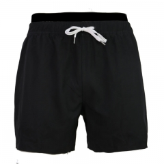 Men's double layer elastic waist swim shorts