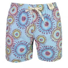 Men's elastic waist swim short.