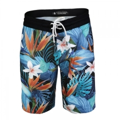 Men's Water Repellent 2-Way Stretch  Boardshort With Digital Printing Binding K20024